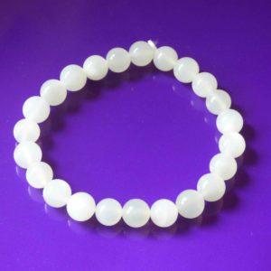 Bracelet | pierre de lune 8mm