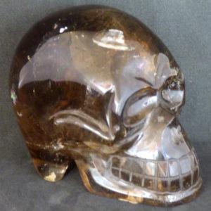 Crâne en quartz fumé