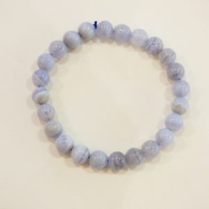 Bracelet | agate blue lace 8mm