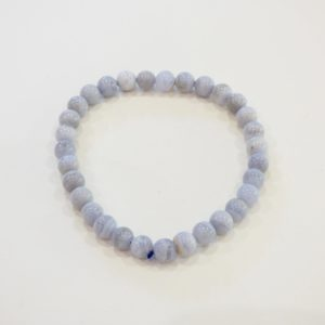 Bracelet | agate blue lace 6mm