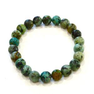 Bracelet | turquoise d'Afrique 8mm