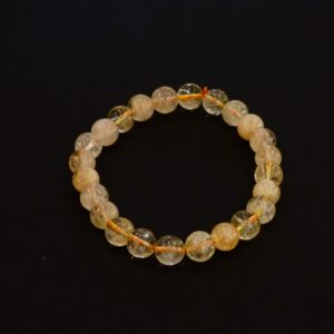 Bracelet citrine 8mn