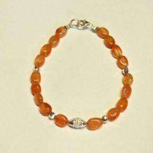 Bracelet-pierre cornaline