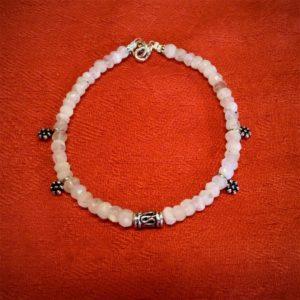 Bracelet-pierre  pierre de lune