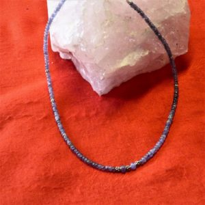 Collier-pierres tanzanite