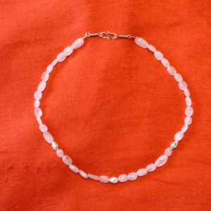 Collier-pierres quartz rose