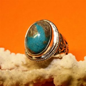 Bague turquoise tibetaine